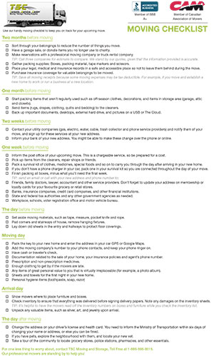 Suggested By Movers Follow Our Updated Moving Checklist For Smooth Move